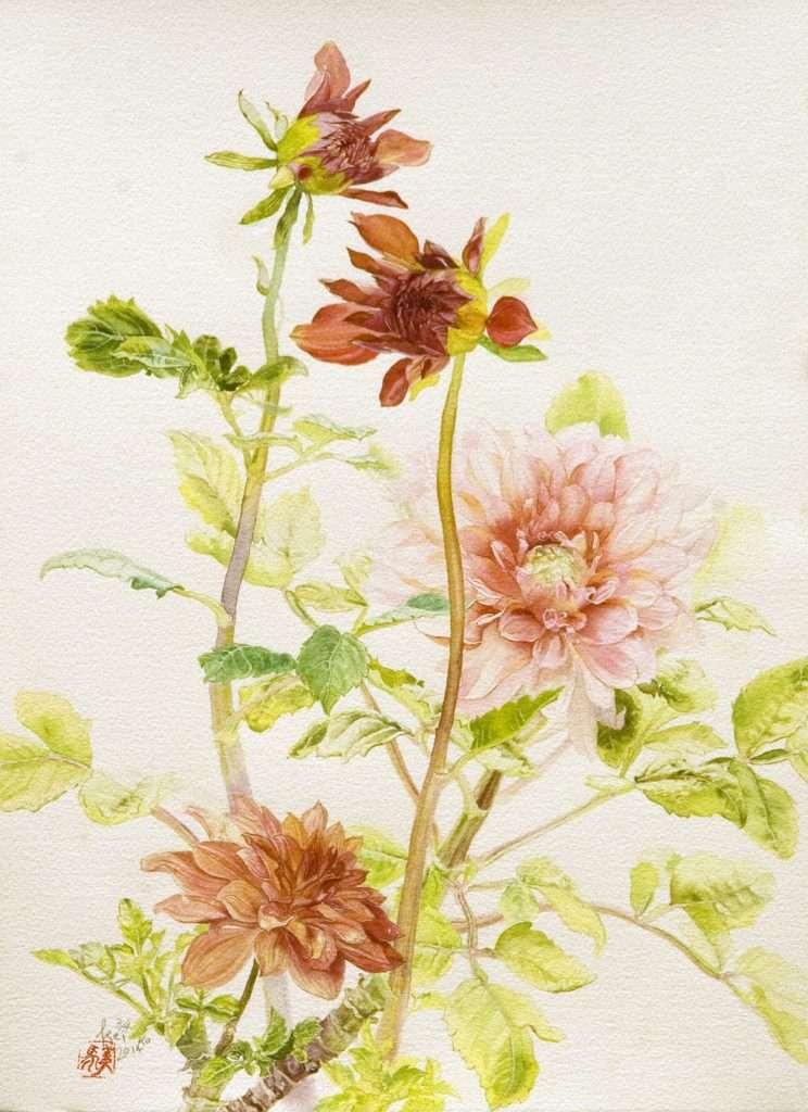 KEMI014 gentle breez, 28 x 38 cm,water colour on paper,2014