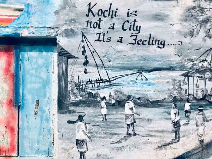 A mural that rings true with my experience in Fort Koch​i