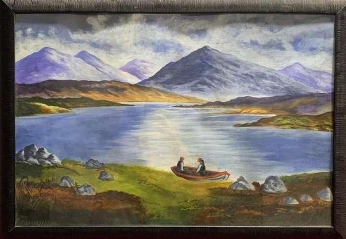 Hillside Contours- Acrylic Painting