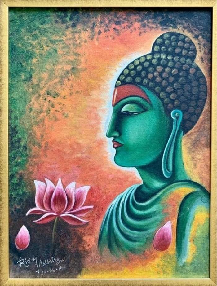 Passing Thought- Buddha Oil Painting
